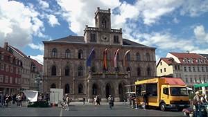 Das Glockenspiel des Weimarer Rathauses