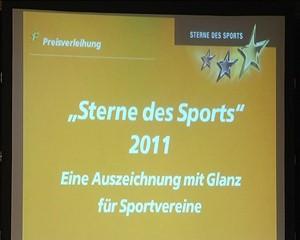"Bad Berka TV: ""Sterne des Sports"" 2011 in Bronze"