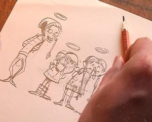 Der Illustrator und Comic-Zeichner Alexander von Knorre