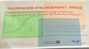 Thüringer Engagement Preis 2013