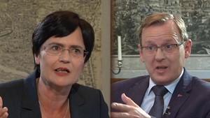Politik-Archiv September 2014: Spitzengespräch zwischen Lieberknecht und Ramelow kurz vor der Landtagswahl