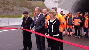 Eröffnung des Jagdbergtunnels