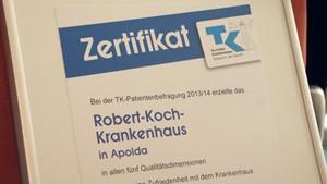 Krankenhaus Apolda erhält TK-Zertifizierung