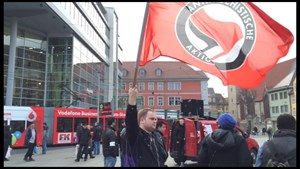 Roma-Demo auf dem Erfurter Anger