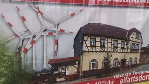 Thüringen TV - Jena TV - Protest gegen Windparkpläne bei Tautenhain