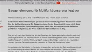 5 x Thüringen: Baugenehmigung für Arena liegt vor