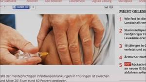 5x Thüringen - Masern- und Grippefälle stark angestiegen