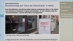 5x Thüringen - Brandanschlag in Kahla ...