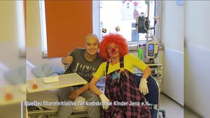 Clown Knuddel in Kinderklinik - Jena TV - Thüringen.TV