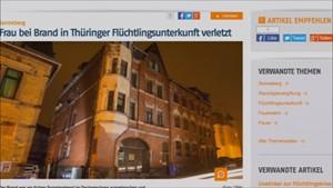 5x Thüringen - Flüchtlingsunterkunft brennt ...