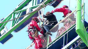 Höhenrettung auf der Frankfurter Dippemess - RheinMain TV - Deutschland lokal April 2016