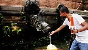 Salve Nepal: Eine Interessante Wasserfontäne in Durbarsquare