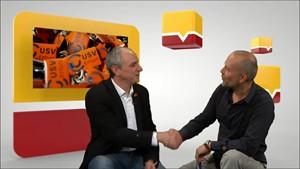 Jens Panse vom USV Erfurt im Gespräch mit Peter Schulze-Sandow