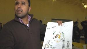 Neujahrsfest der Malschule im Flüchtlingsheim