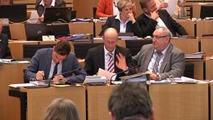 Bargeldobergrenze, Wassercent und Gebietsreform: Plenar-TV im Februar