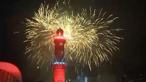 Turmleuchten 2017 - Neujahrsspektakel in Warnemünde