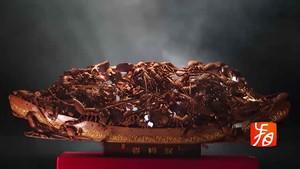 Goldene Lack-Schnitzerei zum Jahresausklang