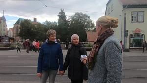 Inklusion als Thema auf der Straße - Anja unterwegs in Erfurt
