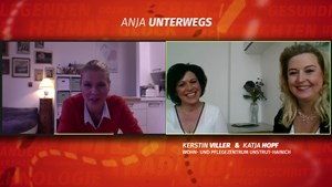 Anja digital unterwegs im Pflegezentrum