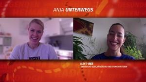 Anja unterwegs zu Hause mit Kaye-Ree