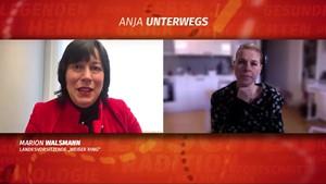 Weißer Ring erhält Goldene Henne 2020 - Anja digital unterwegs mit Marion Walsmann