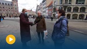 Impfen - ja oder nein? - Anja unterwegs in Erfurt