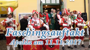 Faschingsauftakt in Apolda am 11.11.2017