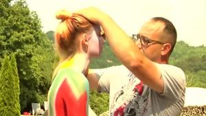 Der Bodypainter Mirko Gerwenat aus Apolda