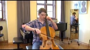 Der Cellist Friedrich Thiele