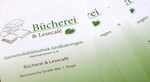 Die neue Bücherei und Lesecafé in Großobringen