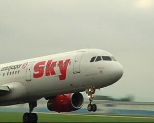 The German air traffic began in Erfurt