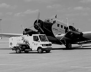 Historischer Flug auf dem Flughafen Erfurt