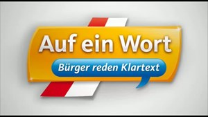 Auf ein Wort - Bürger reden Klartext aus Sonneberg