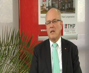 Im Gespräch mit CDU/CSU Fraktionschef Volker Kauder