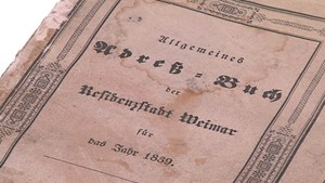 Weimars ältestes Adressbuch