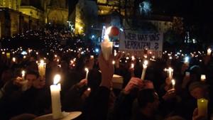 Gedenken und Demo zum Mauerfall in Erfurt