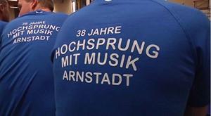 Hochsprung mit Musik zum letzen mal in Arnstadt