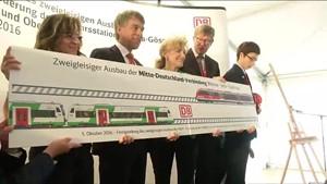 Mitte Deutschland Verbindung der Bahn wieder offen