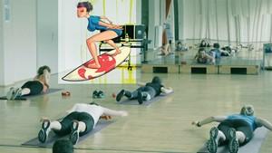Surfing auf dem Trockenen