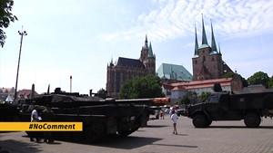 Bundeswehr wirbt auf Erfurter Domplatz
