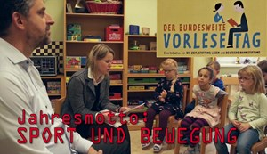 Der bundesweite Vorlesetag in der Kita Regenbogen in Arnstadt