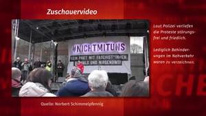 ZUSCHAUERVIDEO: Demo #nichtmituns vom 15.02. auf dem Erfurter Domplatz