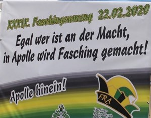 Faschingsumzug in Apolda am 22.Februar 2020