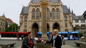 Anja unterwegs - Im Gespäch mit Erfurts Bürgermeisterin Anke Hofmann-Domke