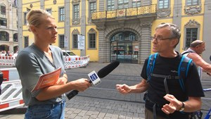 Tag der Freiheit - Demonstrationen in Berlin - Anja unterwegs in Erfurt Teil 2