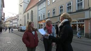 Vier Tage Woche, aber voll bezahlt - Anja unterwegs in Erfurt