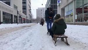 Starke Schneefälle in Mittel- und Nordthüringen - Impressionen aus Erfurt