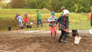 Neuer Schulgarten der Christian Zimmermann Grundschule in Apolda