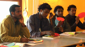 Sprachkurs für Flüchtlinge
